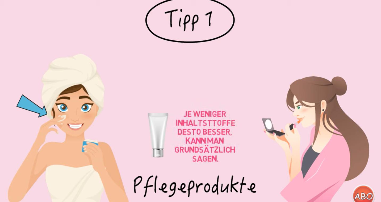 Screenshot empfindliche Haut Tipp 1