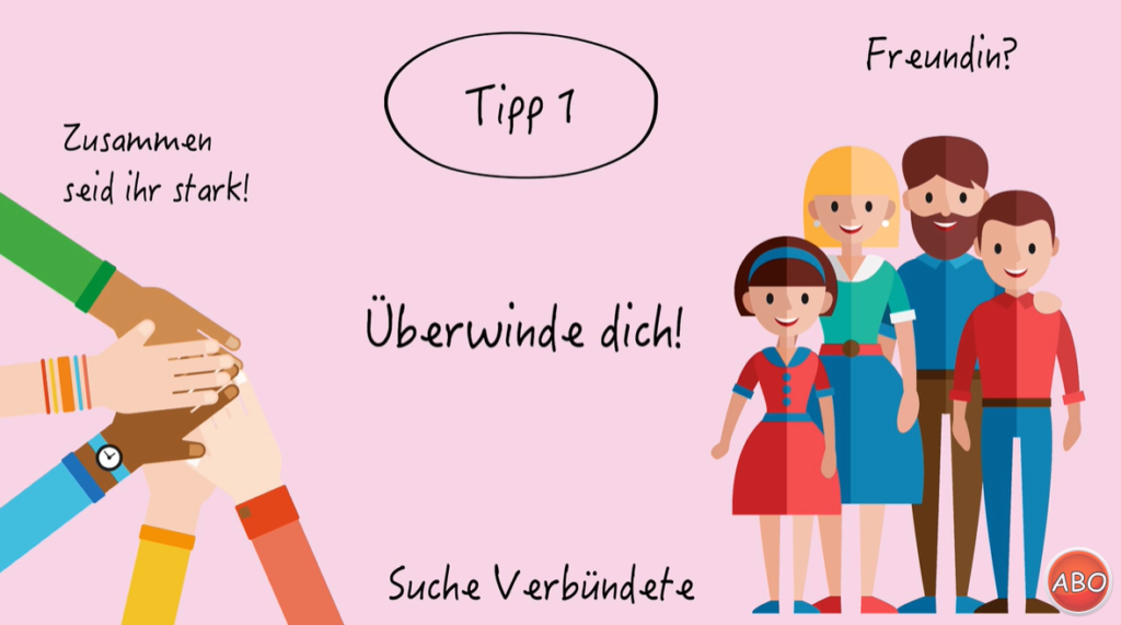 Screenshot Mobbing Tipp 1